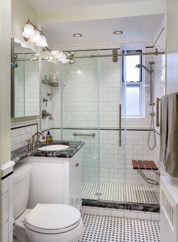 Studio D Interiors Classic New York City Bathroom Renovation - Classic bathroom renovations